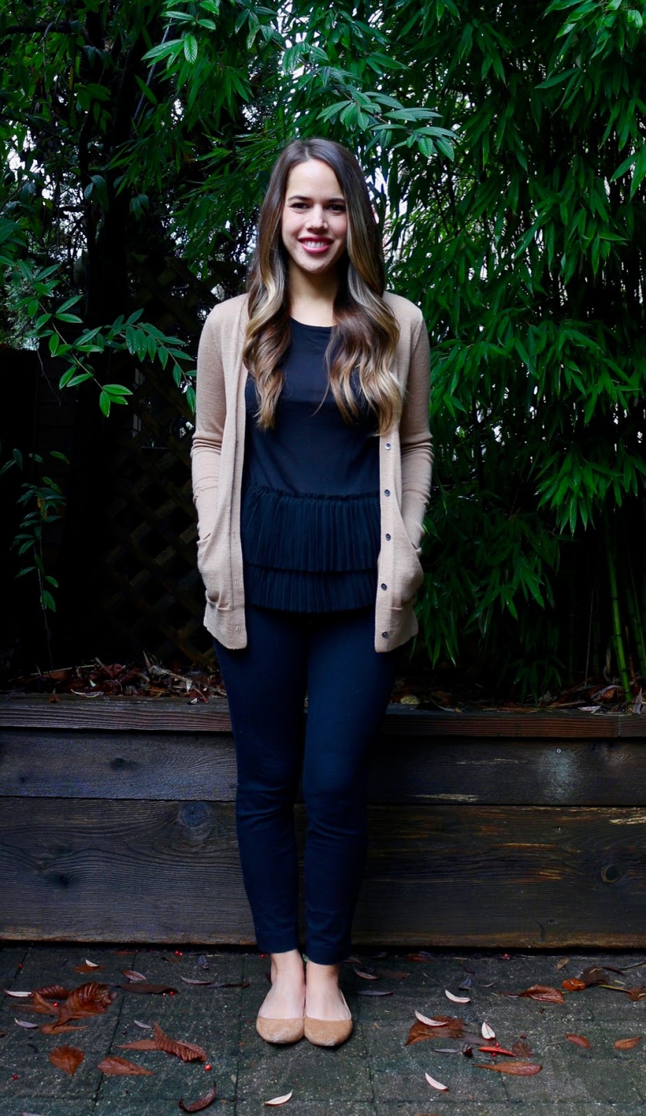 Jules in Flats - Black + Camel (Business Casual Fall Workwear on a Budget)