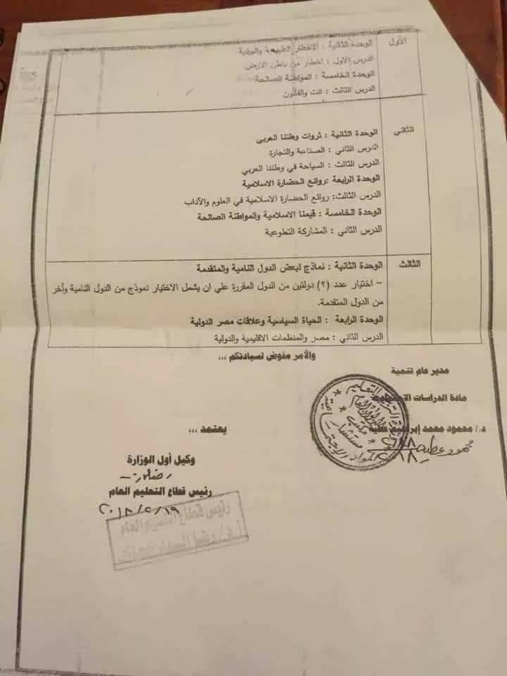 المحذوف من مادة الدين الأسلامي 2018 اعدادي