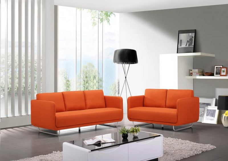 la fabrique d co un canap orange d co vintage design moderne. Black Bedroom Furniture Sets. Home Design Ideas