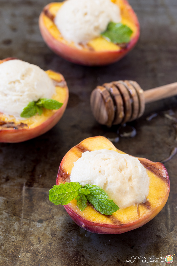 Grilled Peaches with Honey