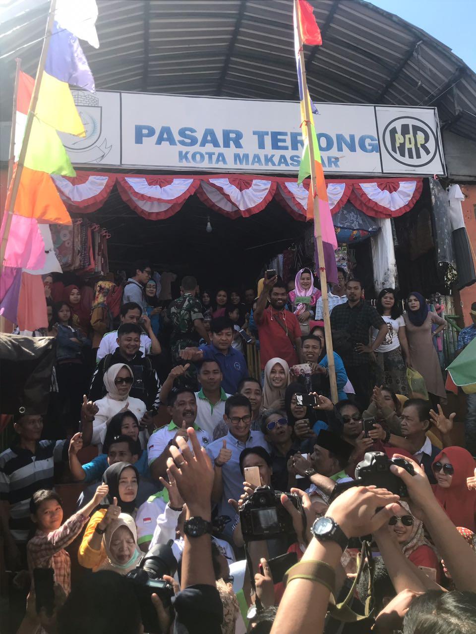 Sandi Kunjungi Makassar, Netizen Sampaikan Sindiran Telak