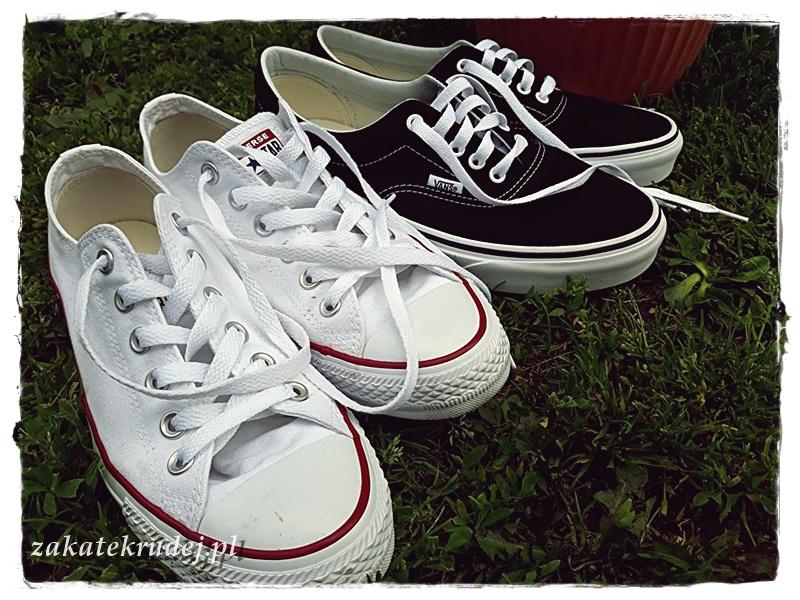 5f2a763833bb Wybrałam dla siebie białe Conversy i czarne Vansy. Jeżeli jesteście ciekawi  na jakie modele konkretnie się skusiłam i jak je oceniam