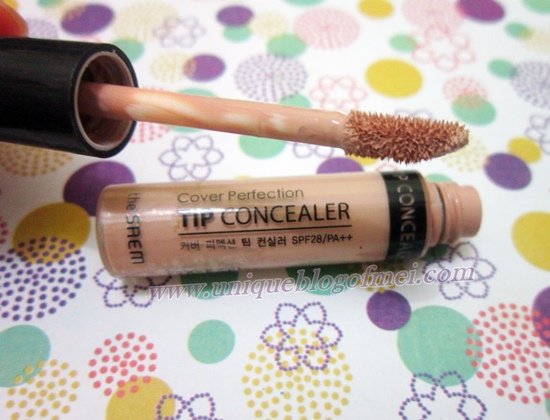 applicator THE SAEM Cover Perfection Tip Concealer Review
