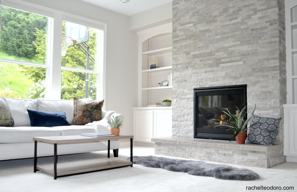 Updating a 90\'s Model Home Living Room Reveal - Rachel Teodoro