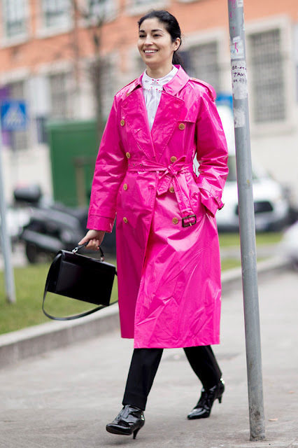 Colored Outerwear Street Style