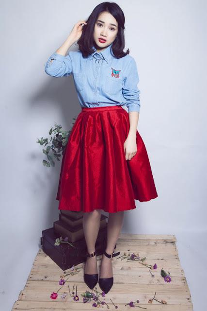 váy nữ tính giúp tạp nên cách ăn mặc sang trọng