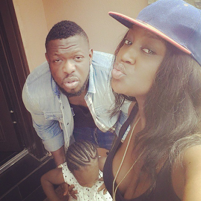 timaya and his daugther and girlfriend