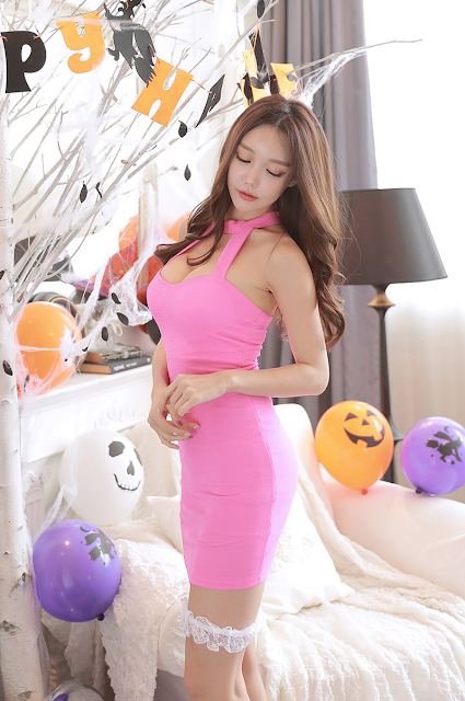 6 Yoon Ae Ji -  Halloween Set - very cute asian girl-girlcute4u.blogspot.com