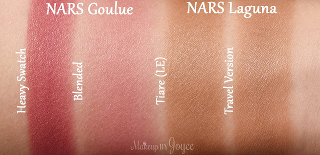Nars Goulue Blush Swatch Laguna Bronzer Swatches
