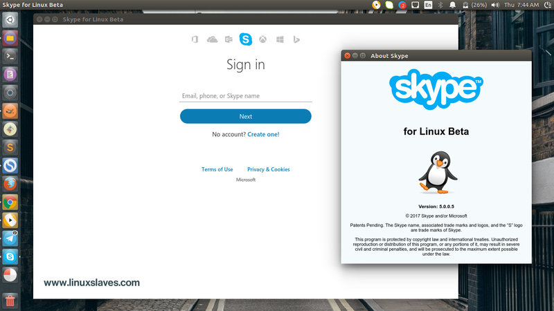 How to Install Skype 5.0 for Linux in Ubuntu 16.04, 16.10 - Linuxslaves