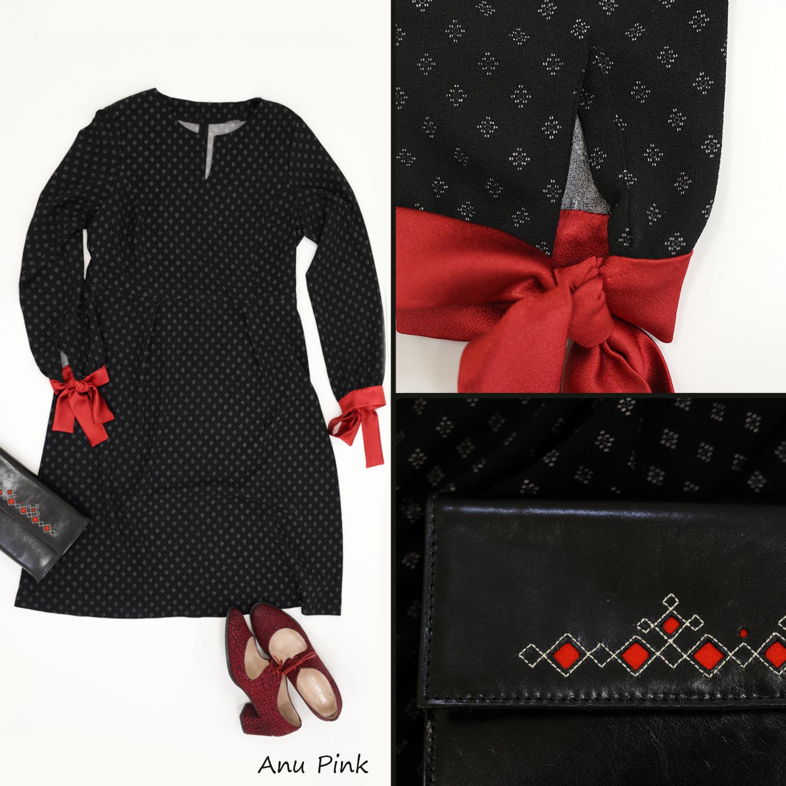 c29ebf67ef8 Liiga väike must kleit: põhilõige Burdast (muudatustega), Punasetäpilised  kingad Vivian Vau, Teatrikotike