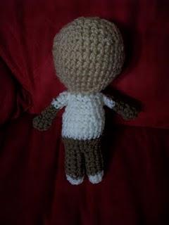 Crochet Doll. A Cute Teddy Bear Amigurumi Doll With Bow On Her ... | 320x240