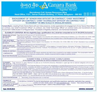 http://www.canarabank.com/English/Scripts/Recruitment.aspx