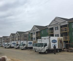 Delmarva Insulation Trucks Unloading