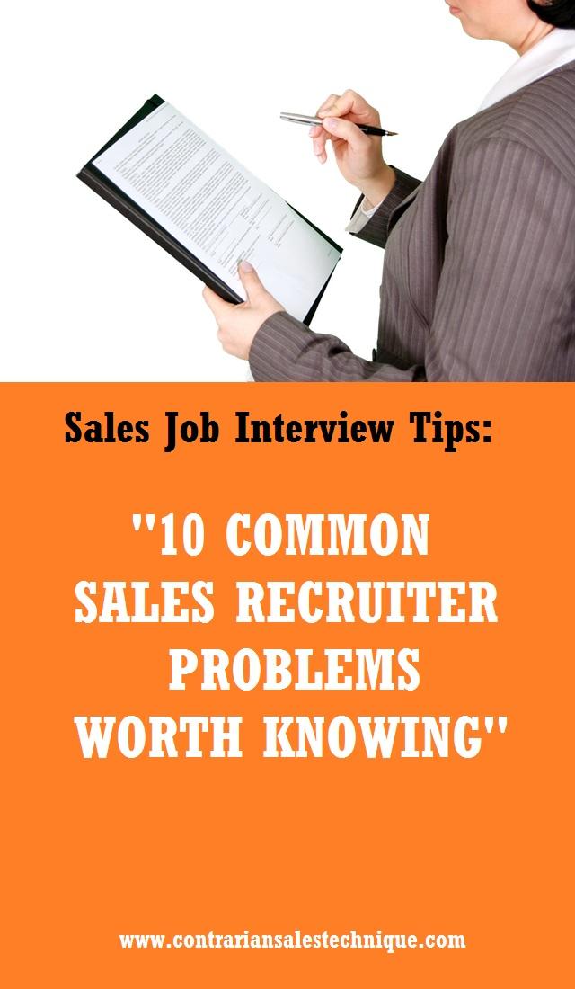 10 common sales recruiter problems