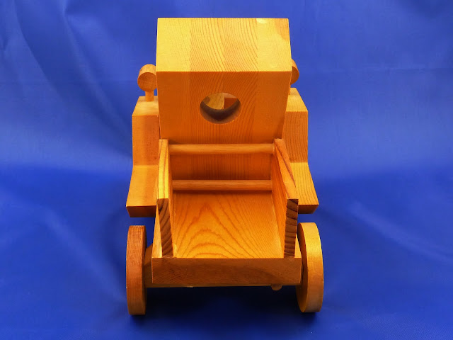 Rear View - Wooden Toy Truck - Norm Marshall Model T Pickup Truck