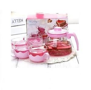 Tea Pot Set 5 In 1 + 1 Teko Kaca