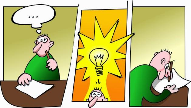Berfikir, dapat ide, dan langsung tulis