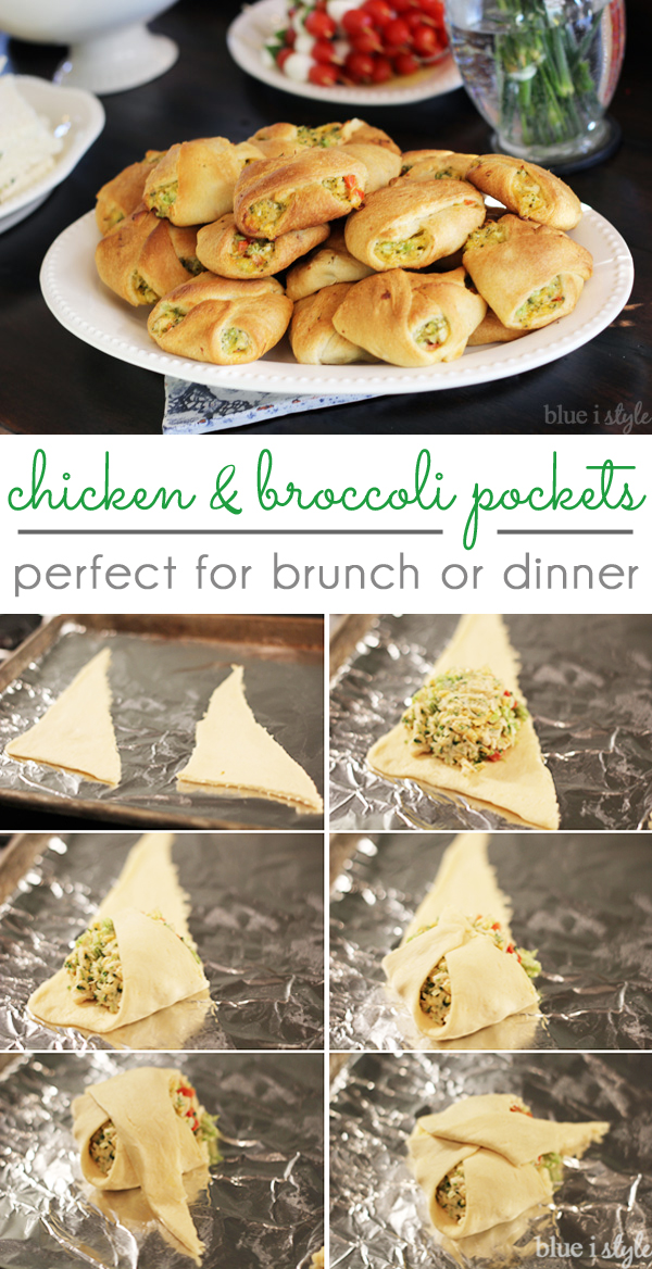Chicken and Broccoli Pockets party food potluck brunch