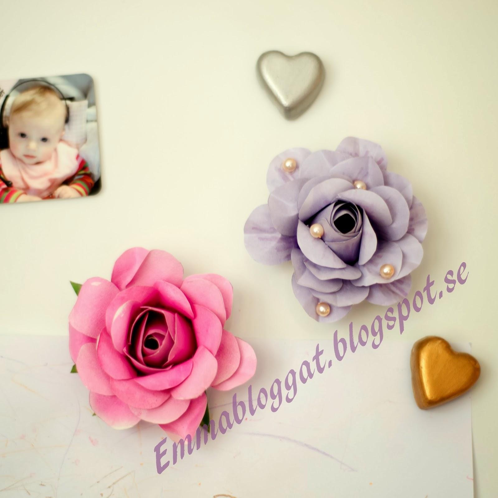 KreativaEmma Hur man gör vackra rosor av papper