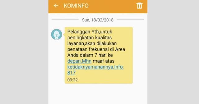 Penjelasan Kominfo Tentang SMS Penataan Jaringan