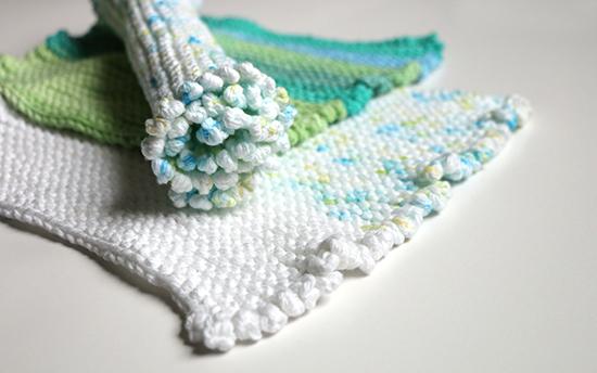 Knit Nubbins Cotton Dishcloths or Washcloths