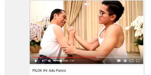 Komentar Para Netizen,Soal Video Jokowi  Beradu Panco dengan Kaesang