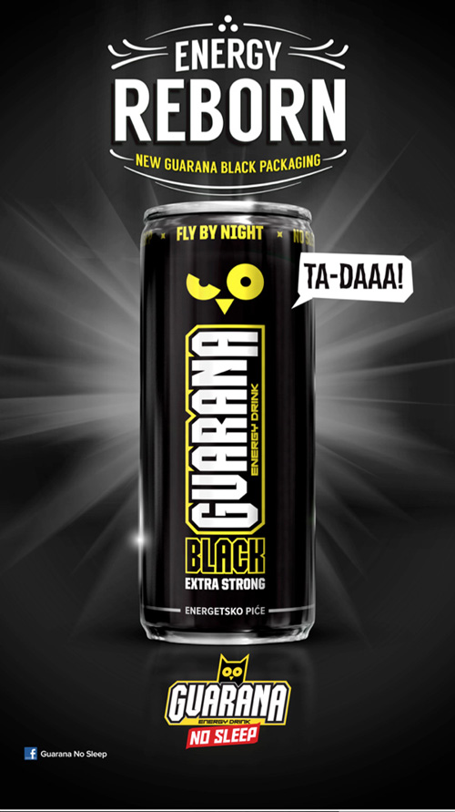 My Owl Barn Guarana Quot No Sleep Quot Energy Drink Design Packaging