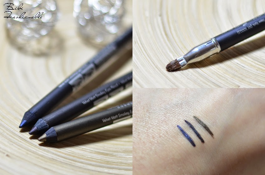 Catrice Velvet Matt Smokey Eyes Pencils offen Pinsel Swatches