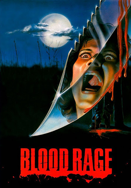 Blood Rage Nightmare at Shadow Woods 1987 horror movie poster