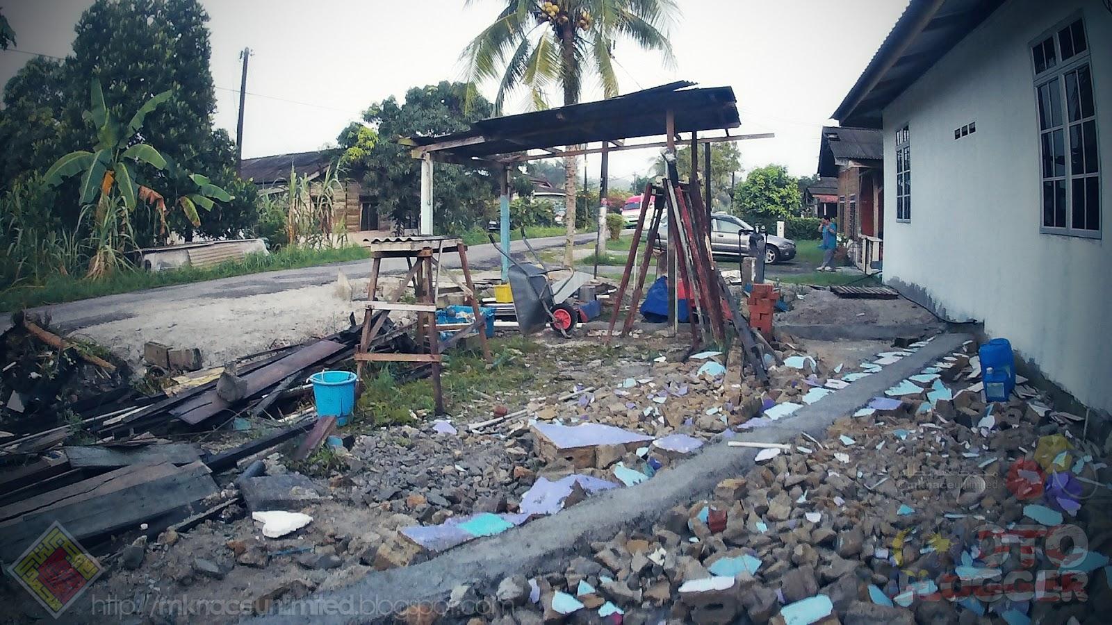 Home Sweet Renovation Phase 3 20181028 Progress Mknace Roti Tissue By Canai Ikhwan Gh Corner Mks Laluan Kereta Dah Mula Kelihatan