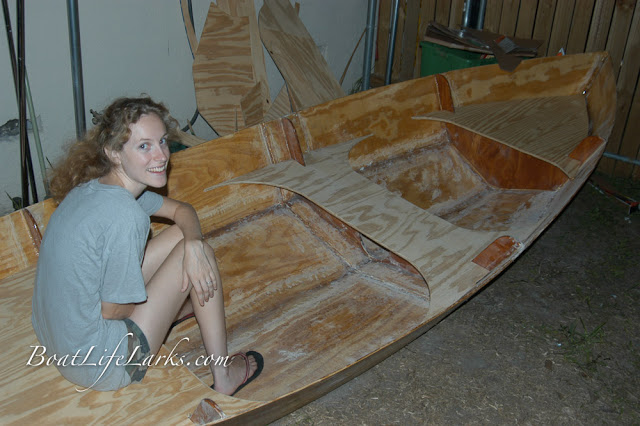 Homebuilt plywood and epoxy dinghy
