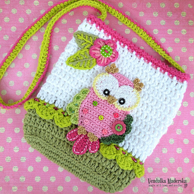 Owl purse  - crochet pattern by Vendula Maderska