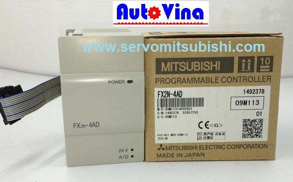 Module analog PLC Mitsubishi hàng mới new 100% Full box Module PLC Mitsubishi FX2N-4AD