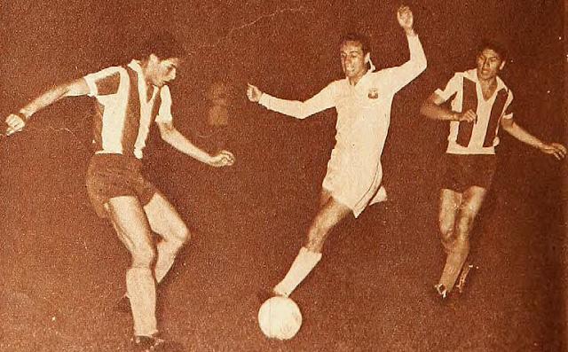 Chile y Paraguay en partido amistoso, 21 de diciembre de 1960