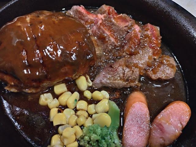 ミスジステーキハーフ&ハンバーグランチ 長崎市の昼人気店 焼肉Rinでステーキランチはおすすめ