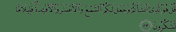 Surat Al-Mulk Ayat 23