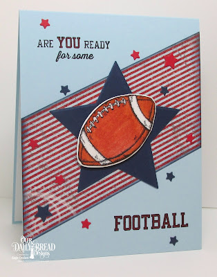 ODBD Football Stamp/Die Duos, ODBD Patriotic Paper Collection, ODBD Custom Sparkling Stars Dies, Card Designer Angie Crockett