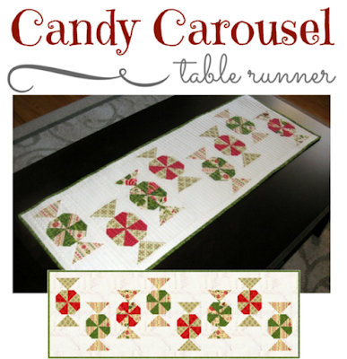 Candy Carousel quilted table runner pattern by Monica Curry
