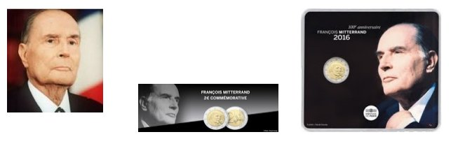 François Mitterrand - 2euro Commémorative France 2016