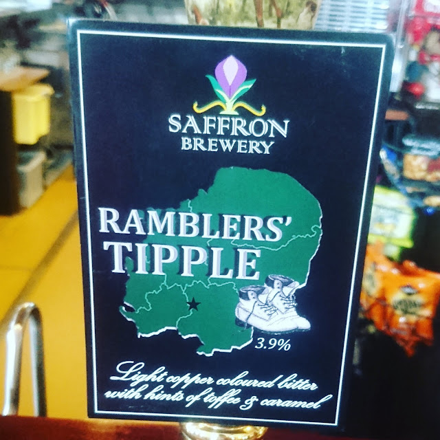 Hertfordshire Craft Beer Review: Ramblers' Tipple from Saffron Brewery real ale pump clip