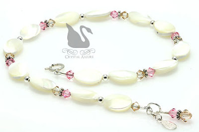 Swarovski Crystal Sandy Beaches Shell Anklet (A107)