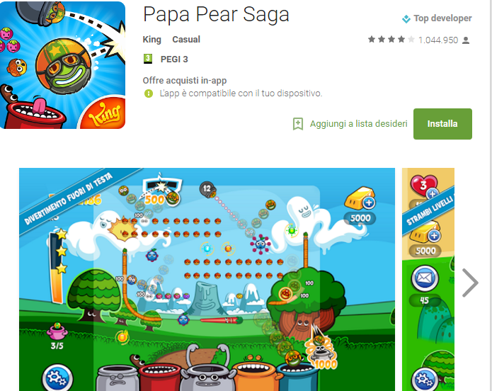 Soluzioni Papa Pear Saga livello 121-122-123-124-125-126-127-128-129-130-131-132-133-134-135 | Trucchi e Walkthrough level