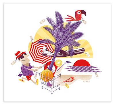 llustration 60 Millions de Consommateurs pas de vacances pour la consommation