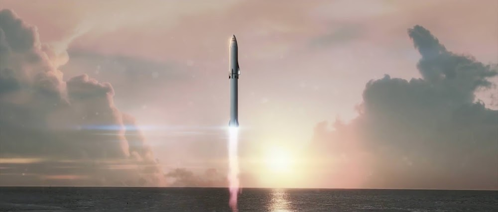 SpaceX crew Big Falcon Rocket (BFR) launch