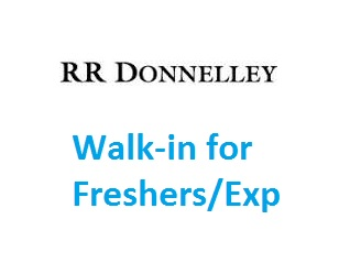 RR Donnelley India Walkin for fresher