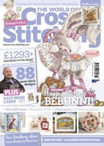 FIND BLUE RIBBON DESIGNS IN ISSUE 233 (OCT 2015) OF THE WORLD OF CROSS STITCHING MAGAZINE