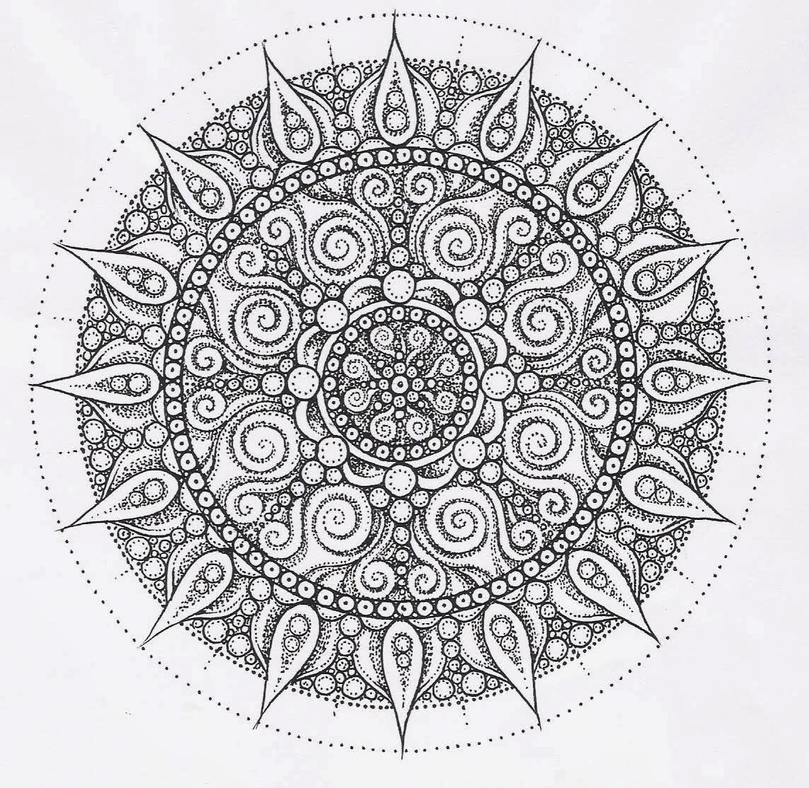 Printable coloring pages | coloring pages mandalas printable