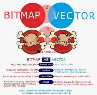 perbedaan bitmap dan vektor pada coreldraw,kelebihan dan kekurangan bitmap dan vektor,perbedaan bitmap dan vektor beserta contohnya,tabel perbedaan bitmap dan vektor,