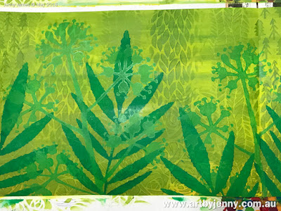 background of the butterflies art journal page using stencils and mixed media craft supplies
